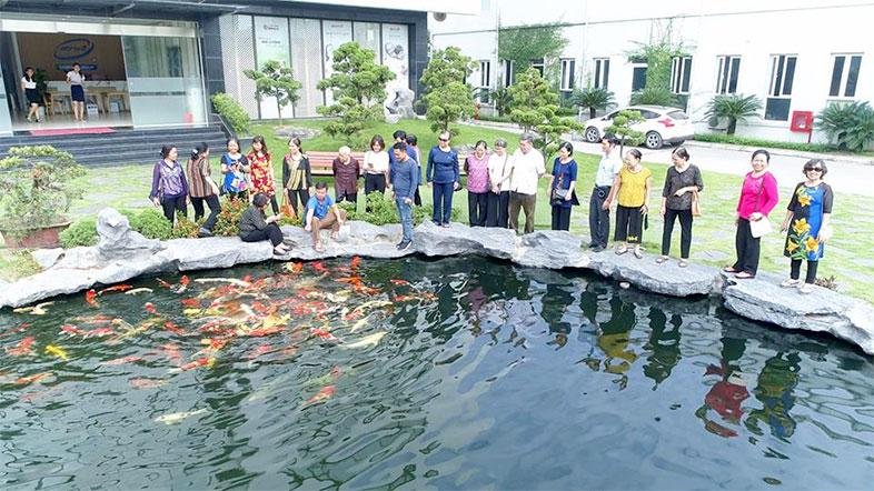 Khuôn viên xanh, sạch, đẹp của nhà máy Tỏi Kim Cương Đông Á